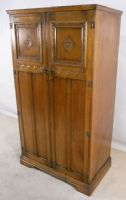 Antique Style Oak Two Door Fitted Wardrobe - SOLD